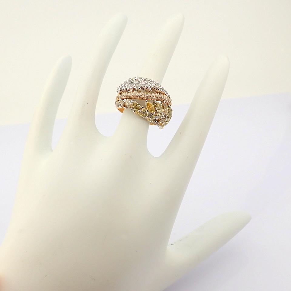 18K Rose Gold Ring- Total 4,31 Ct. Diamond - Image 5 of 8