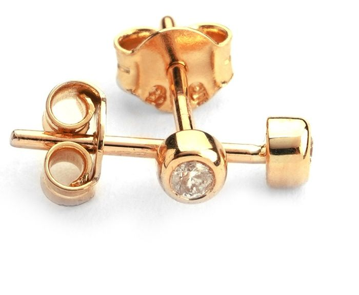 14K Rose Gold - Diamond Earring and Pendant set Total 0,30 Ct. - Image 2 of 7
