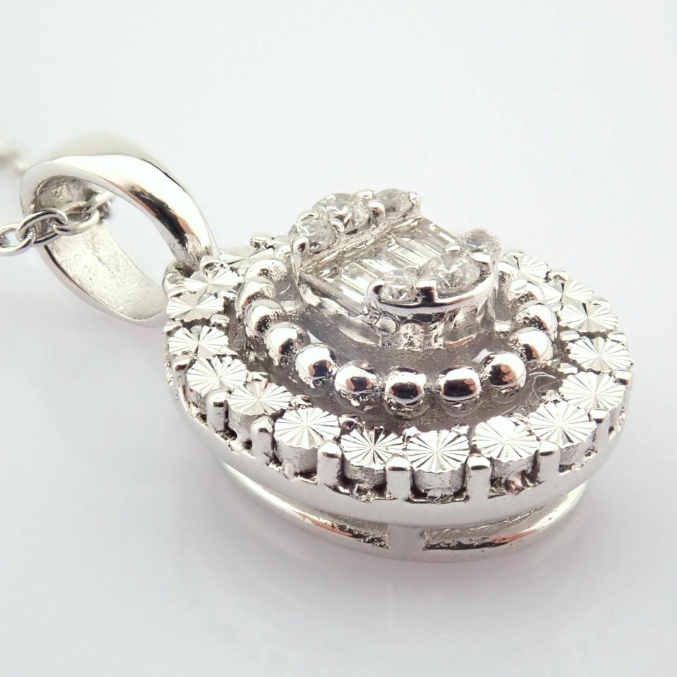 14K White Gold Diamond Necklace - Image 2 of 6