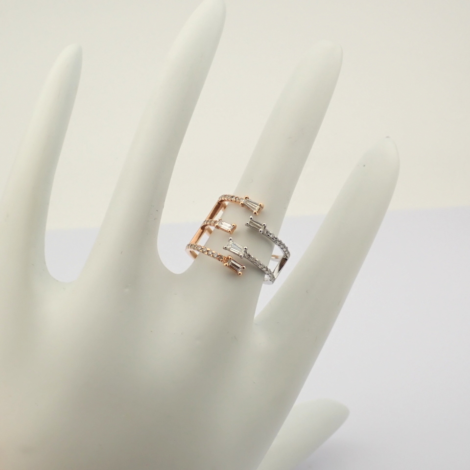 18K Rose Gold Ring- 0,90 Ct. Natural Diamond - Image 8 of 8
