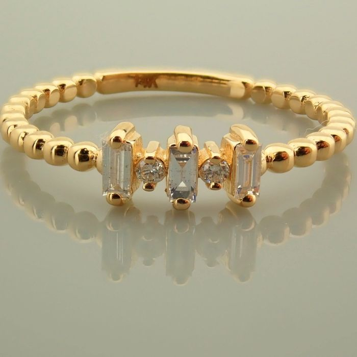 14 kt. Yellow gold - Necklace with pendant - 0.10 Ct. Diamond - Diamonds - Image 8 of 9