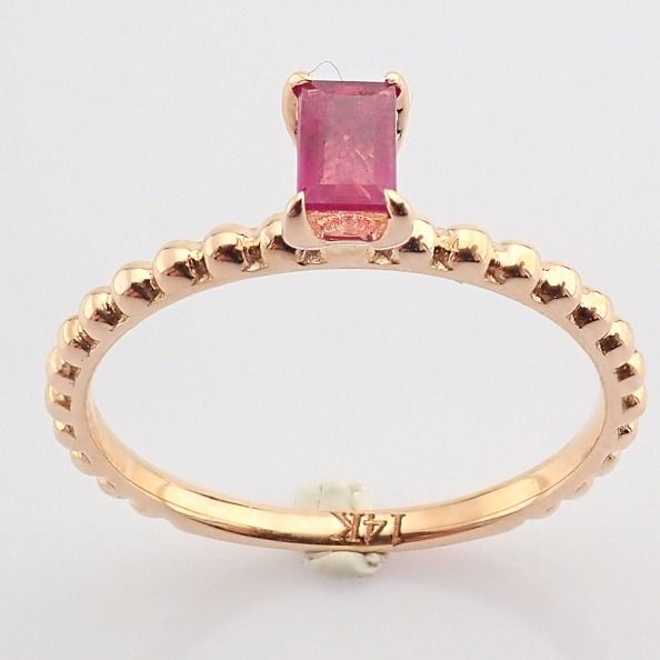 14 kt. Pink gold - Ring - 0.24 Ct. Ruby