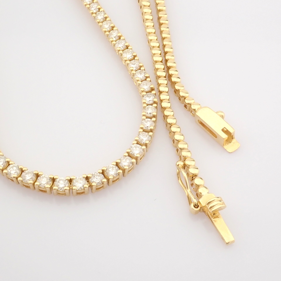14K Yellow Gold Half Eternity Necklace 3,20 Ct. - Image 5 of 14
