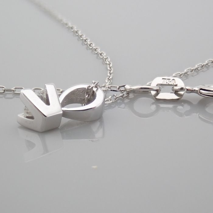 18 kt. White gold - Necklace with pendant - 0.18 Ct. Diamond - Image 2 of 7