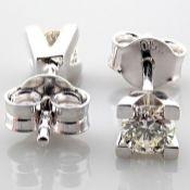 18 kt. White gold - Earrings - 0.37 Ct. Diamond