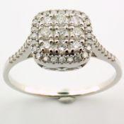 14 kt. White gold - Ring - 0.37 Ct. Diamond