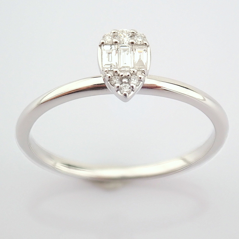 14K White Gold Diamond Ring - Image 6 of 6