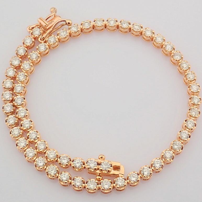 2,10 Ct. Diamond Tennis Bracelet (Crown) - 14K Rose Gold - Image 10 of 14