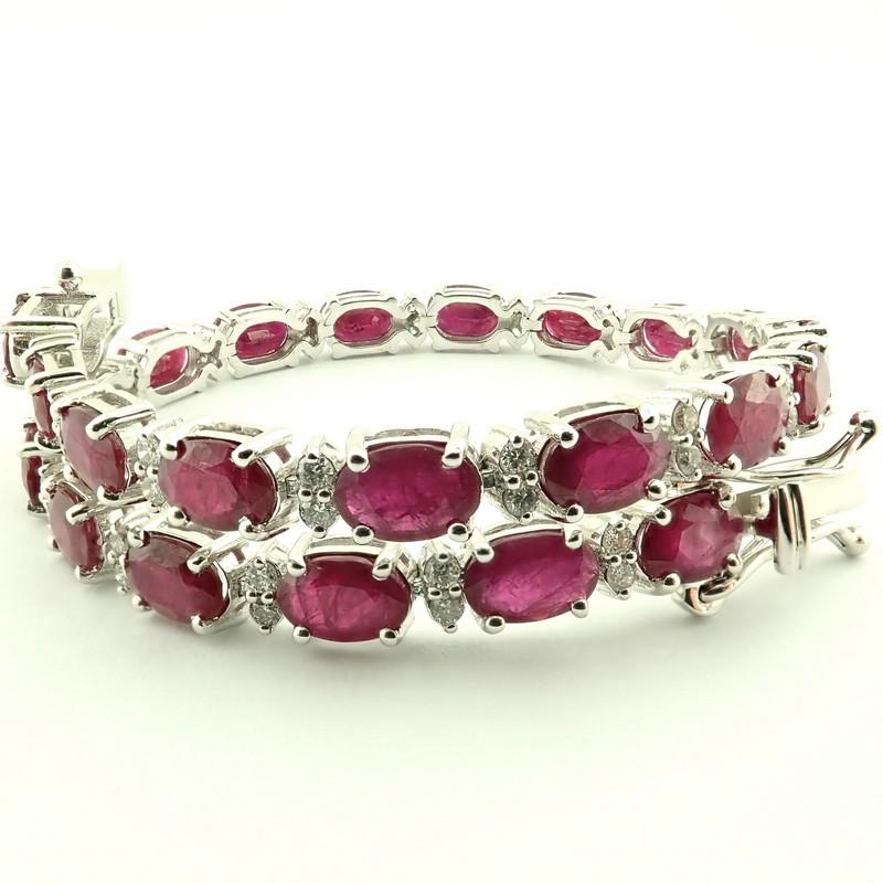 14K Diamond & Ruby Bracelet 11,87ct Total - Image 3 of 5