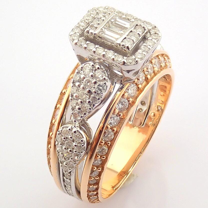 14K White and Rose Gold Diamond Ring - Image 4 of 8