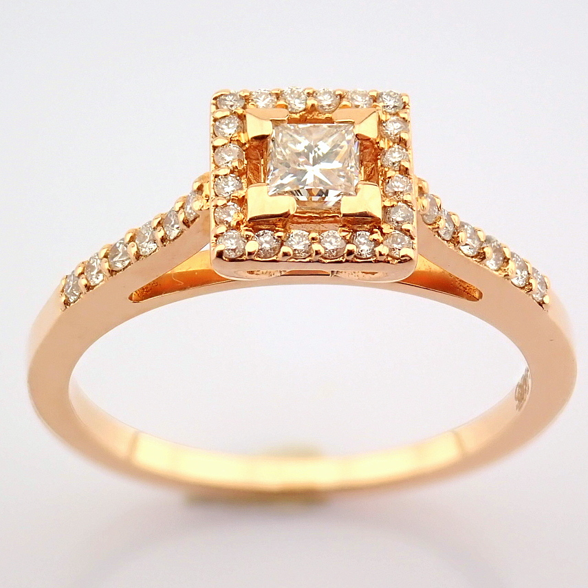 14K Yellow and Rose Gold Diamond Ring - Image 5 of 6