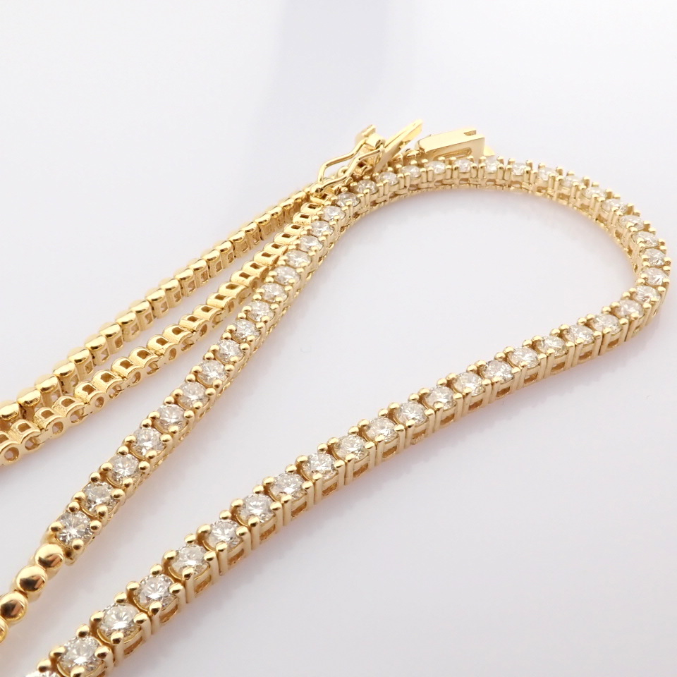 14K Yellow Gold Half Eternity Necklace 3,20 Ct. - Image 3 of 14