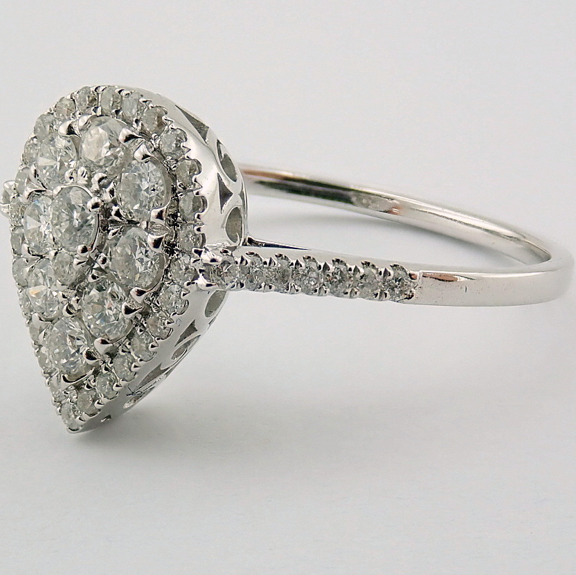 14 kt. White gold - Ring - 0.53 Ct. Diamond - Image 4 of 5