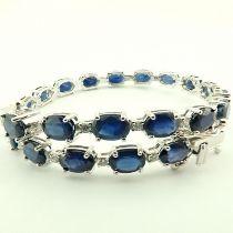 14K Diamond & Sapphire Bracelet 13,74 Ct. Total