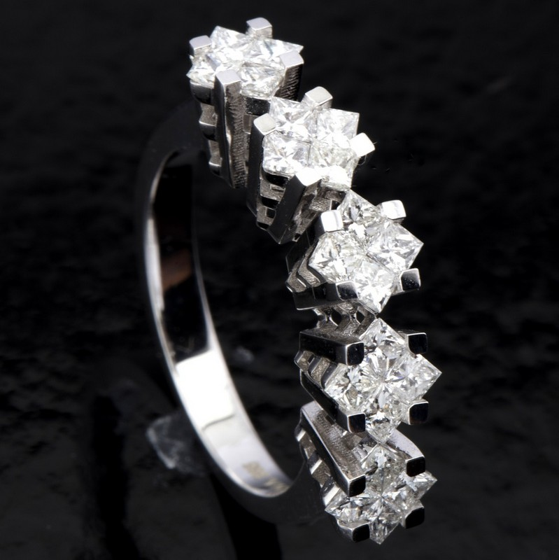 14 kt. White gold - Ring - 1.06 Ct. Diamond - Image 3 of 7