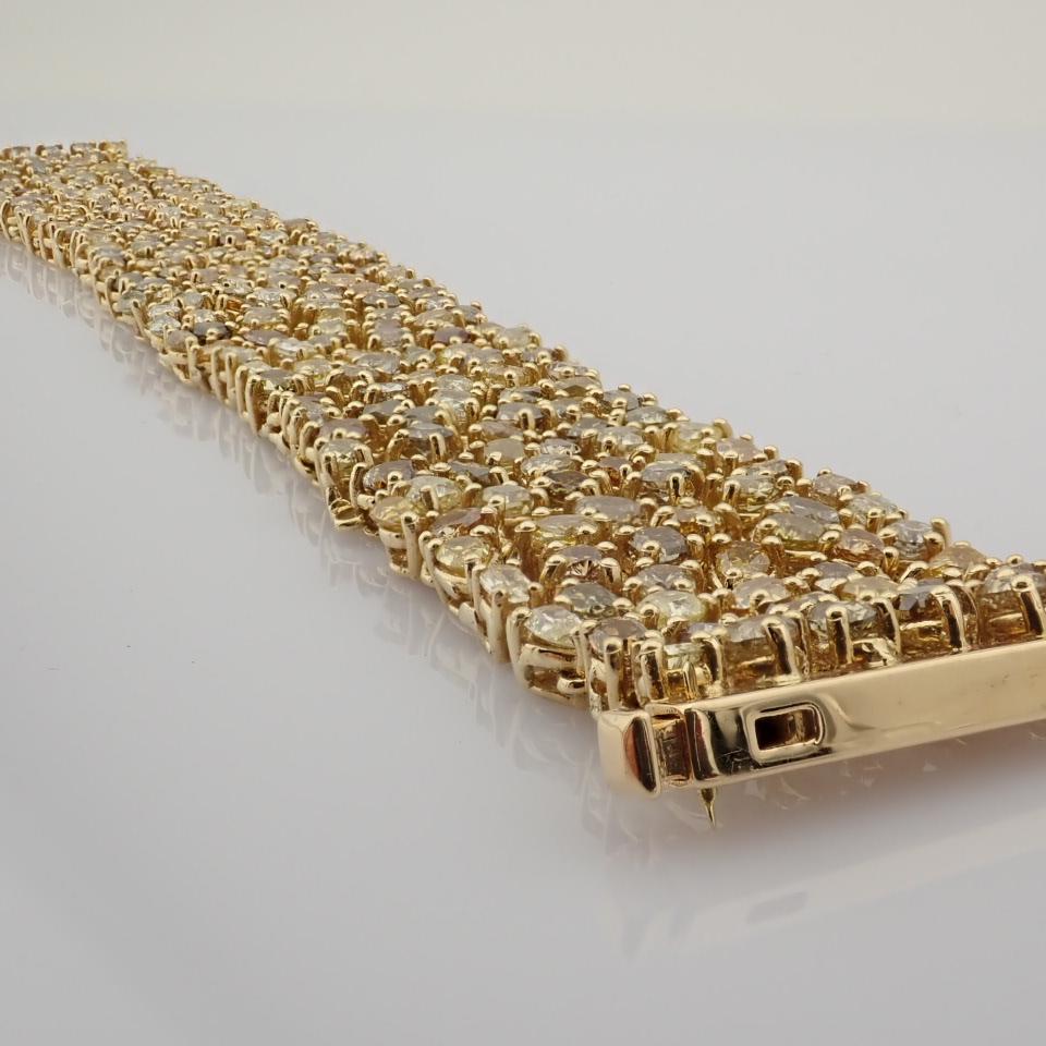 18K Yellow Gold Bracelet- 33,46 Ct. Natural Fancy Diamond - Image 3 of 10