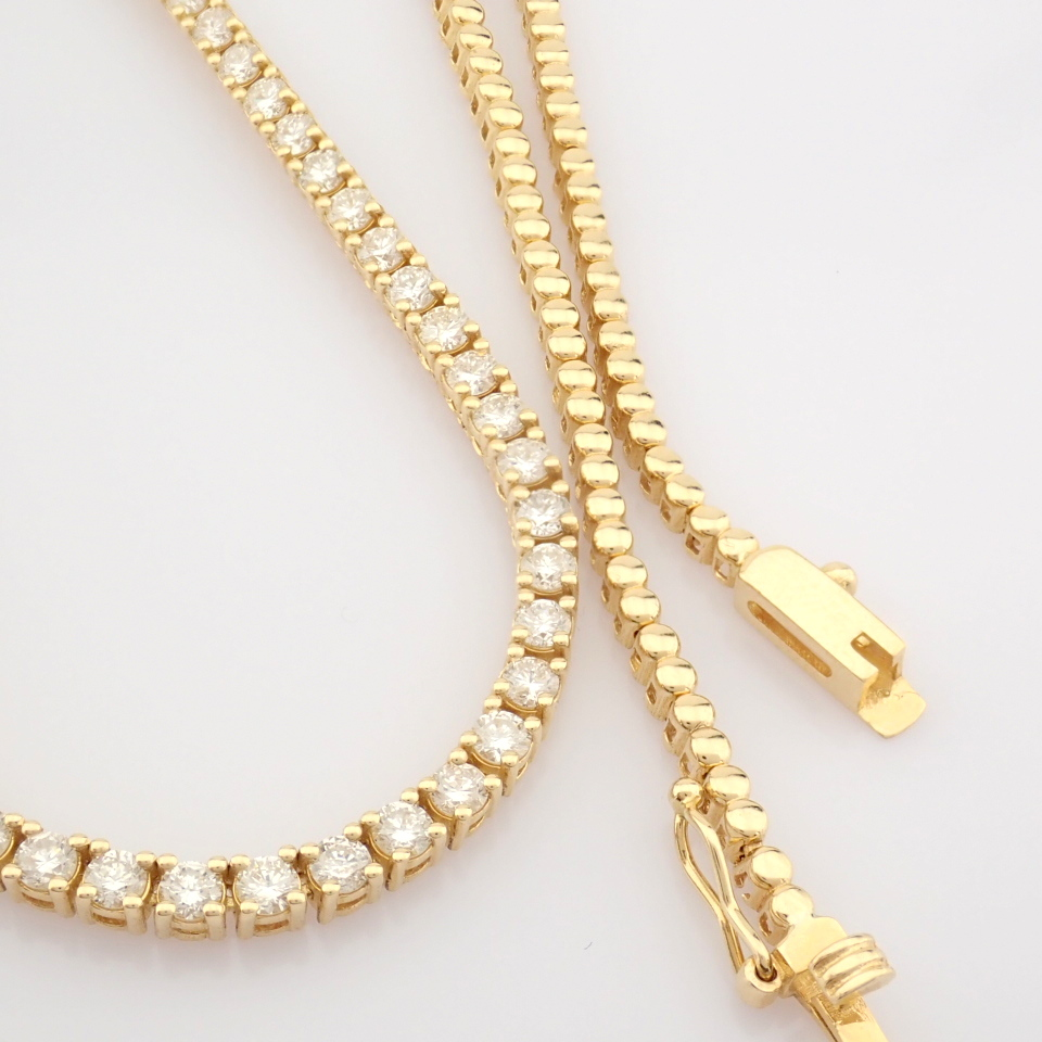 14K Yellow Gold Half Eternity Necklace 3,20 Ct. - Image 4 of 14
