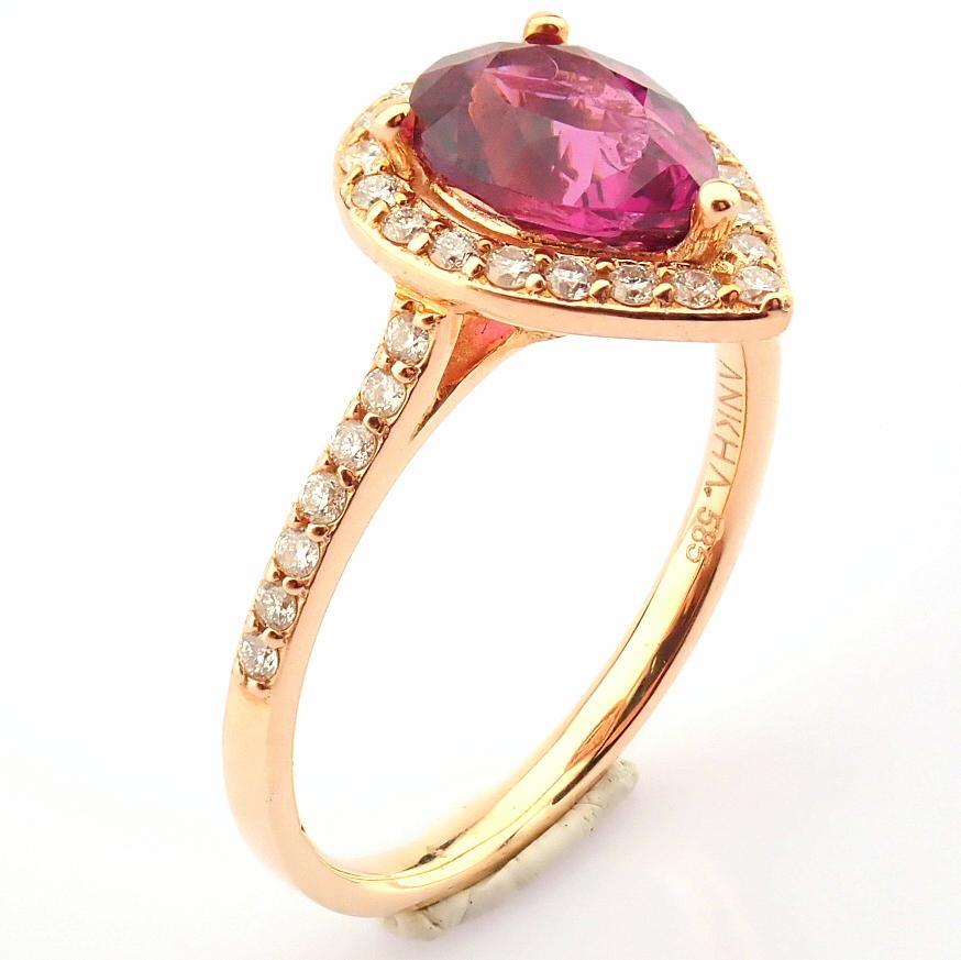14K Yellow and Rose Gold Diamond & Rodalite Ring - Image 5 of 7