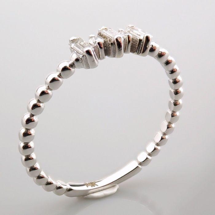 14 kt. White gold - Ring - 0.12 Ct. Diamond - Image 10 of 13