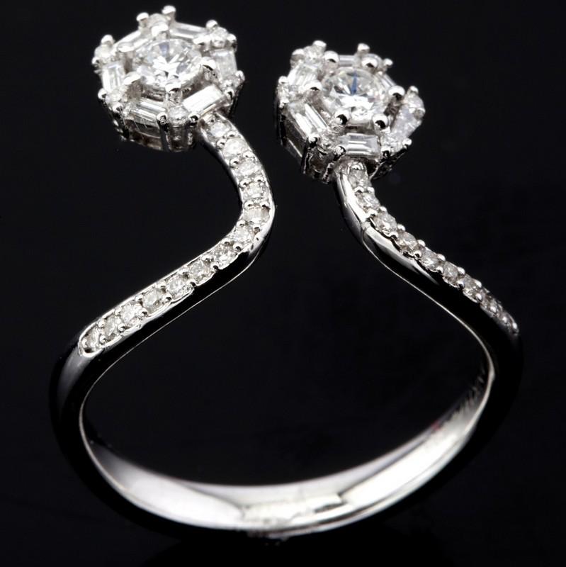 14 kt. White gold - Ring - 0.57 Ct. Diamond - Image 3 of 7