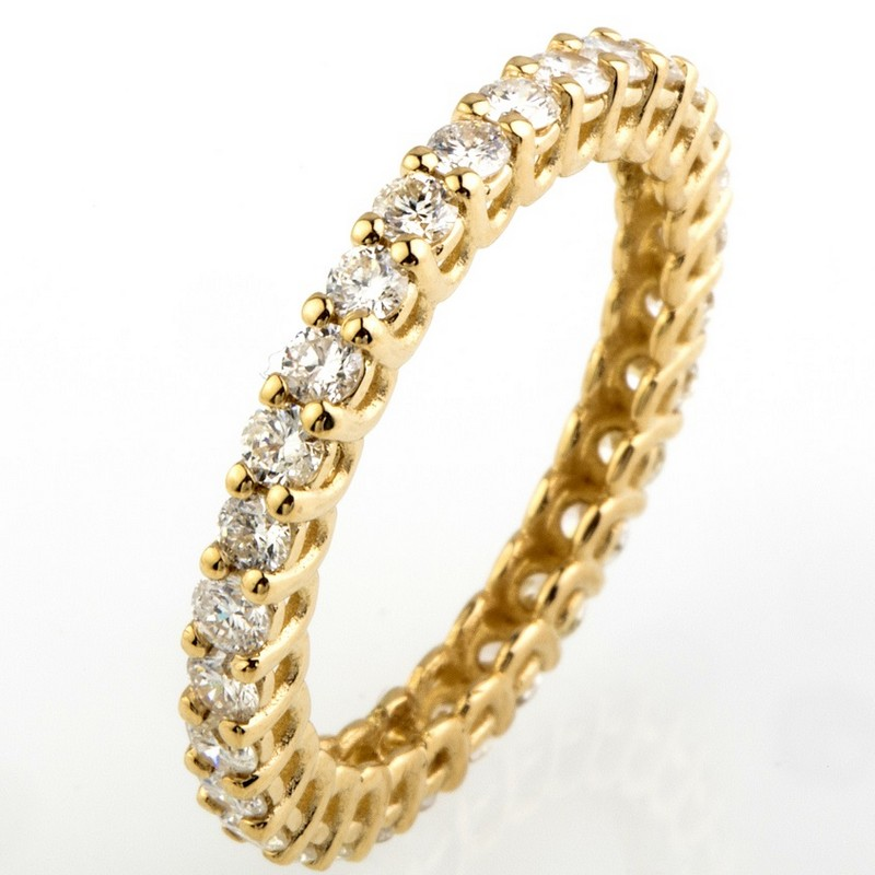 14K Yellow Gold Eternity Ring 1,28 Ct.
