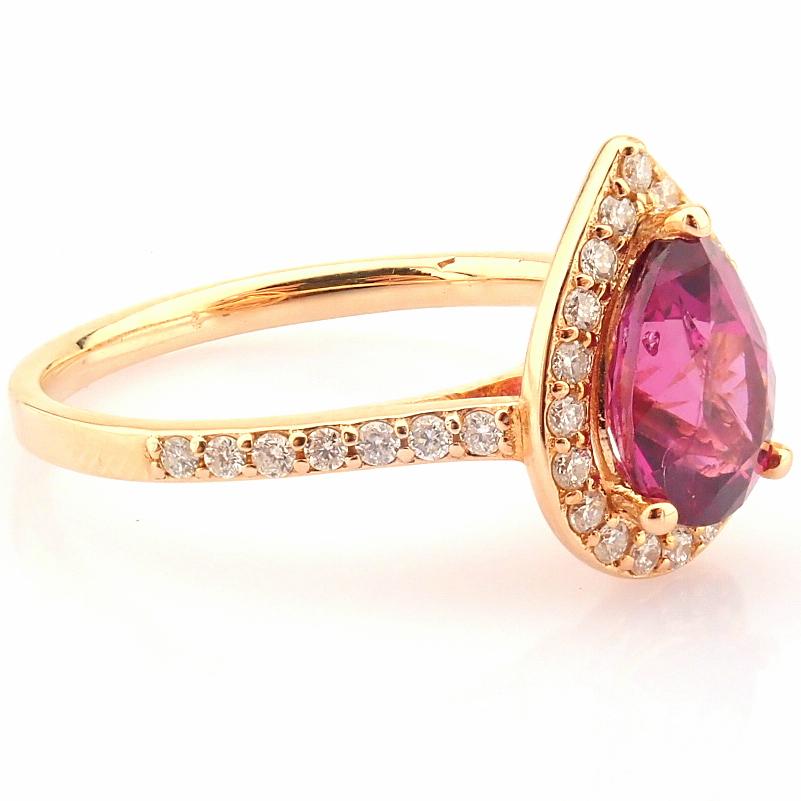 14K Yellow and Rose Gold Diamond & Rodalite Ring - Image 6 of 7