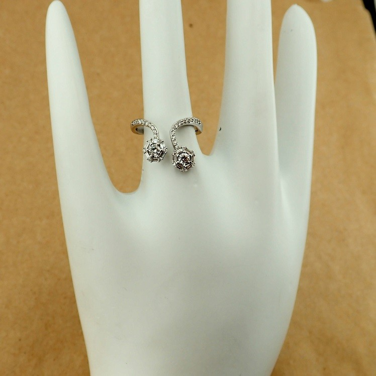 14 kt. White gold - Ring - 0.57 Ct. Diamond - Image 7 of 7