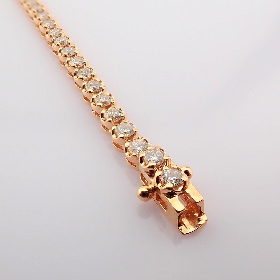 2,10 Ct. Diamond Tennis Bracelet (Crown) - 14K Rose Gold - Image 14 of 14