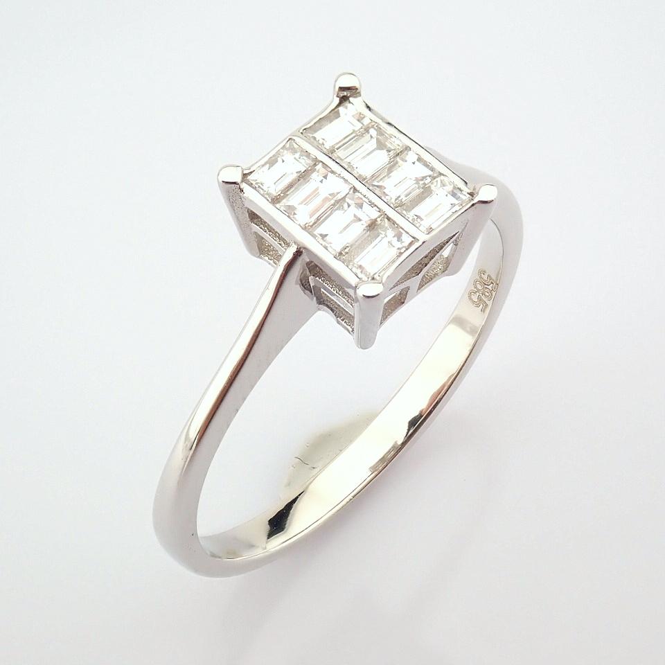 14K White Gold Diamond Ring - Image 3 of 8