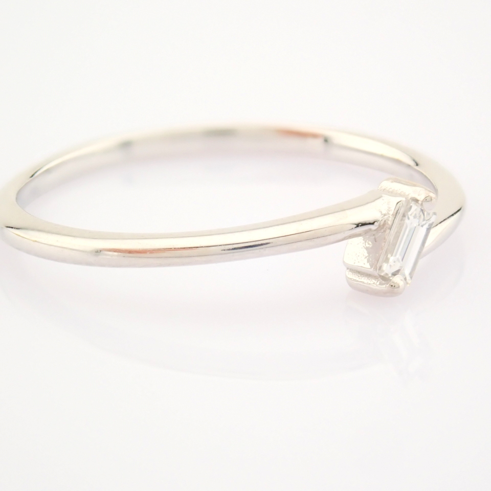 14K White Gold Diamond Ring - Image 7 of 12