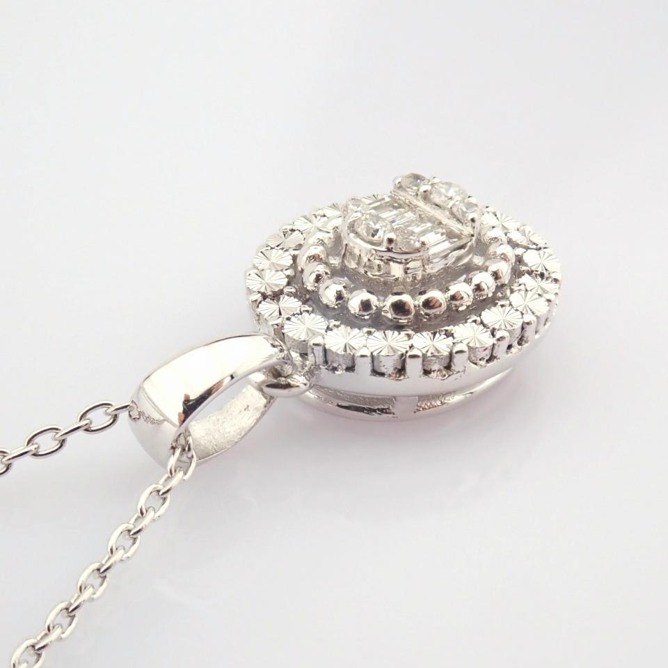14K White Gold Diamond Necklace - Image 5 of 6