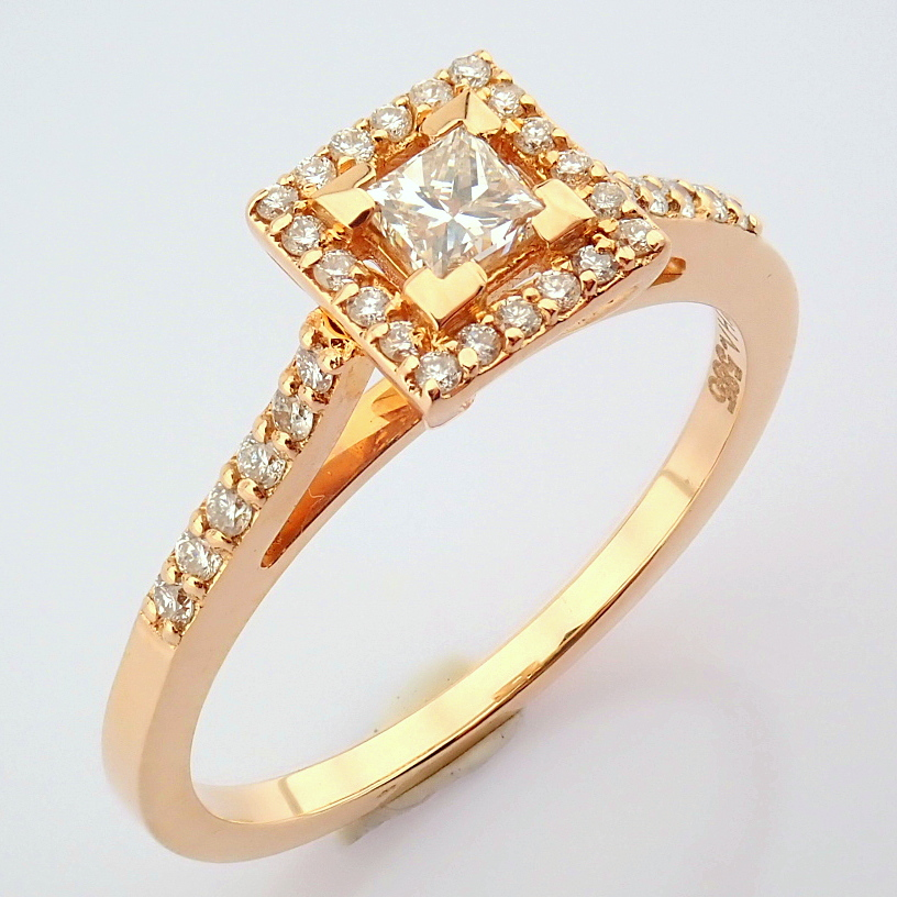 14K Yellow and Rose Gold Diamond Ring - Image 6 of 6