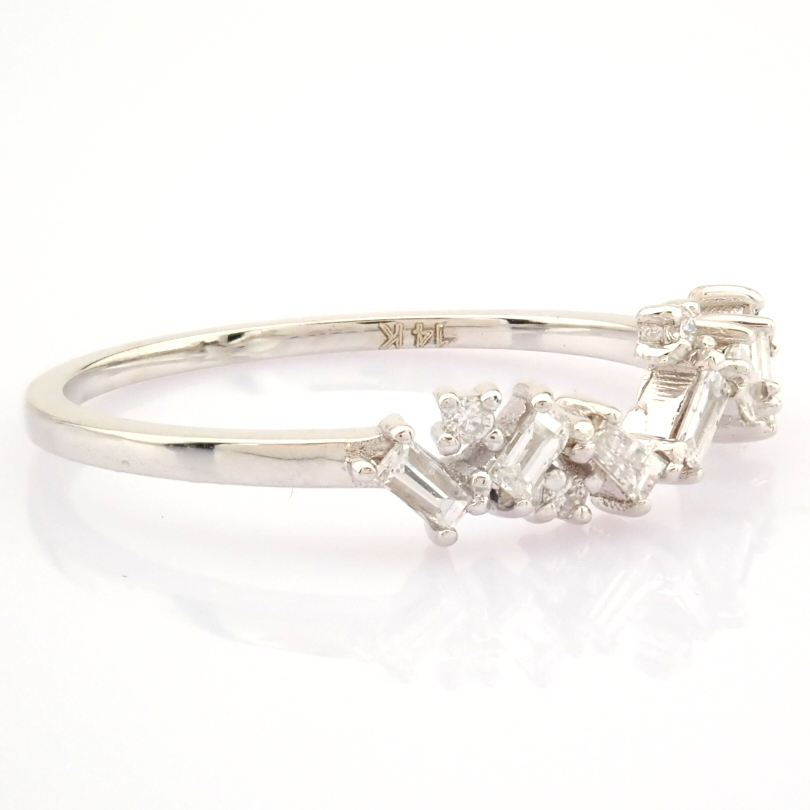 14K White Gold Diamond Ring - Image 6 of 9