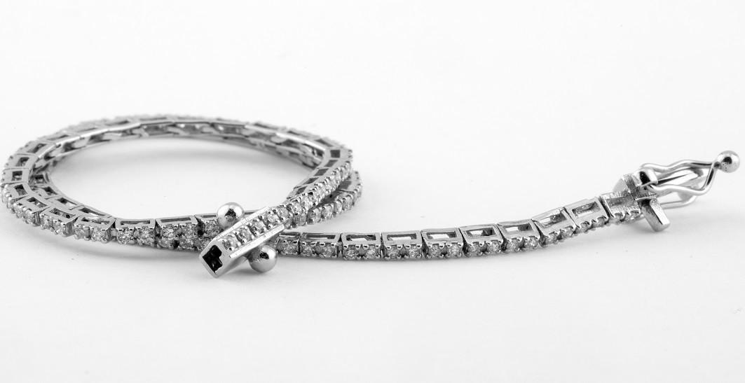 14K 0,60 Ct. Diamond Tennis Bracelet (Cube) - Image 3 of 3