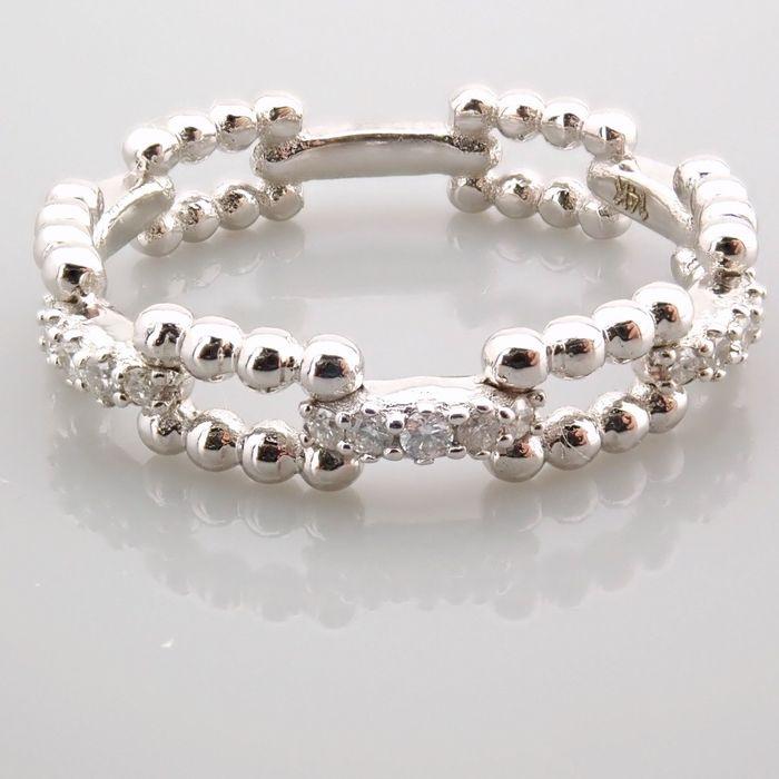 14 kt. White gold - Ring - 0.12 Ct. Diamond - Image 7 of 7