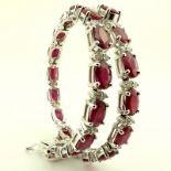 14K Diamond & Ruby Bracelet 11,87ct Total