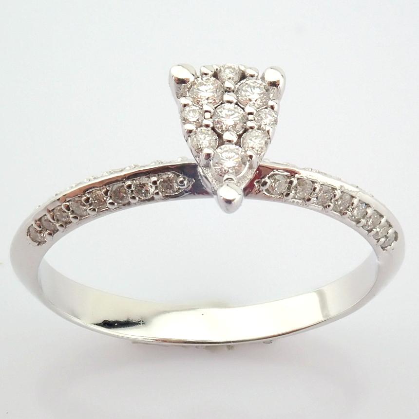 14K White Gold Diamond Ring - Image 7 of 7