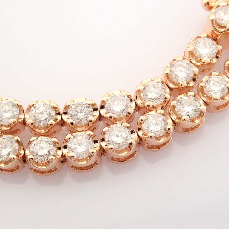 2,10 Ct. Diamond Tennis Bracelet (Crown) - 14K Rose Gold - Image 9 of 14