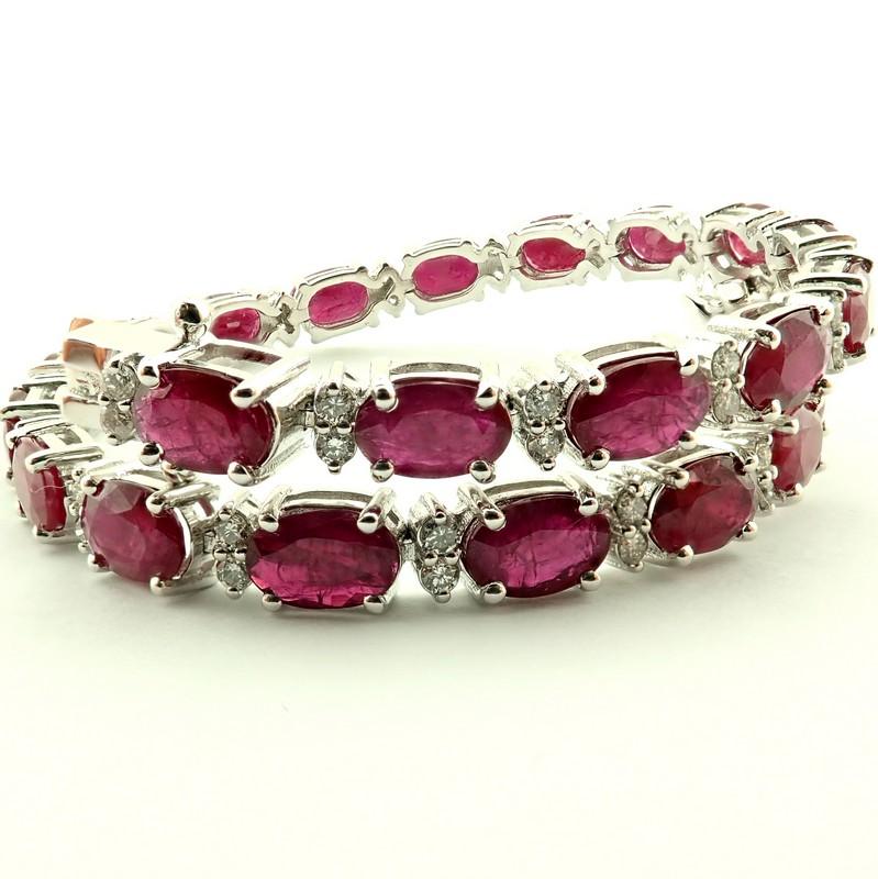 14K Diamond & Ruby Bracelet 11,87ct Total - Image 4 of 5