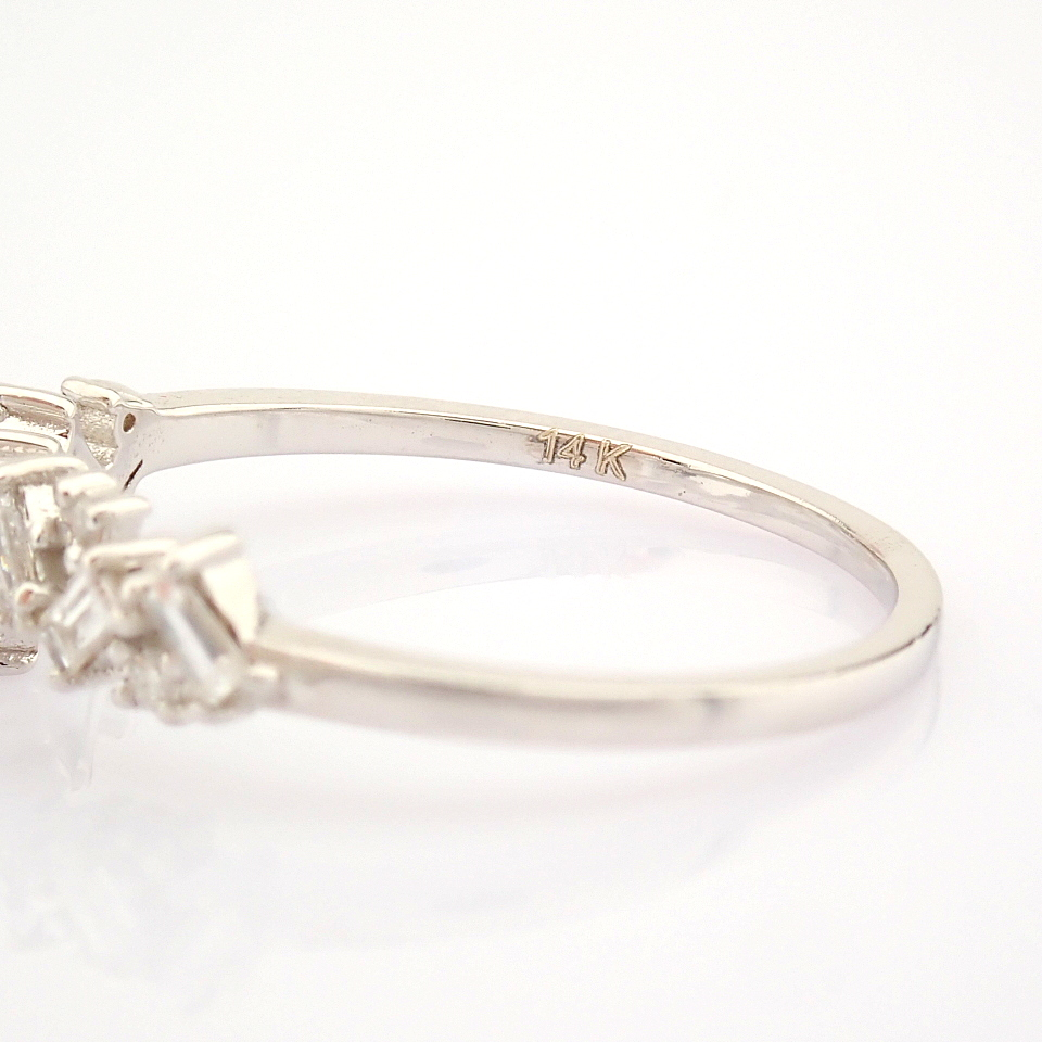 14K White Gold Diamond Ring - Image 8 of 9