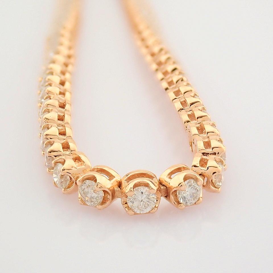 2,10 Ct. Diamond Tennis Bracelet (Crown) - 14K Rose Gold - Image 3 of 14