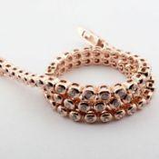 14K 0,45 Ct. Diamond Tennis Bracelet (Bezel)