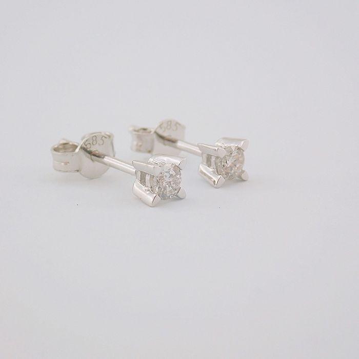 14 kt. White gold - Earrings - 0.20 Ct. Diamond - Image 4 of 6