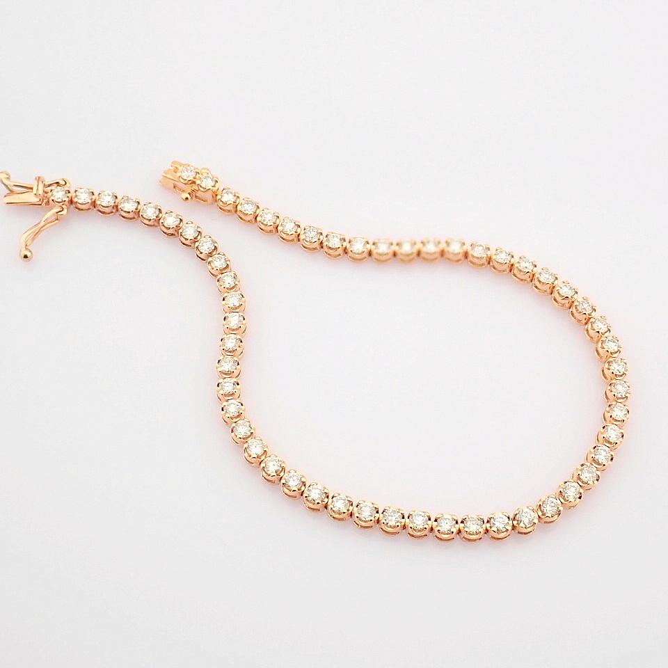 2,10 Ct. Diamond Tennis Bracelet (Crown) - 14K Rose Gold - Image 5 of 14
