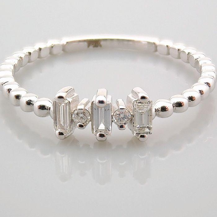 14 kt. White gold - Ring - 0.12 Ct. Diamond - Image 12 of 13