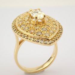 18K Rose Gold Ring- Total 1,94 Ct. Diamond
