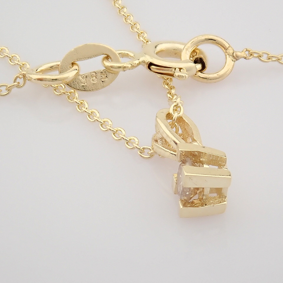 14K Yellow Gold Diamond Solitaire Necklace - Image 6 of 8