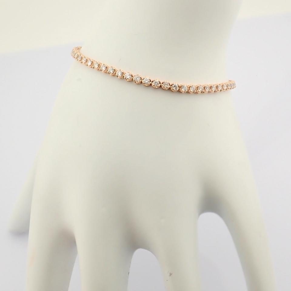 2,10 Ct. Diamond Tennis Bracelet (Crown) - 14K Rose Gold - Image 13 of 14