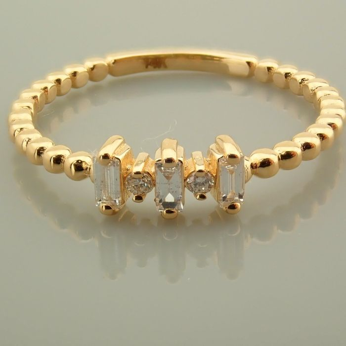14 kt. Yellow gold - Necklace with pendant - 0.10 Ct. Diamond - Diamonds - Image 5 of 9