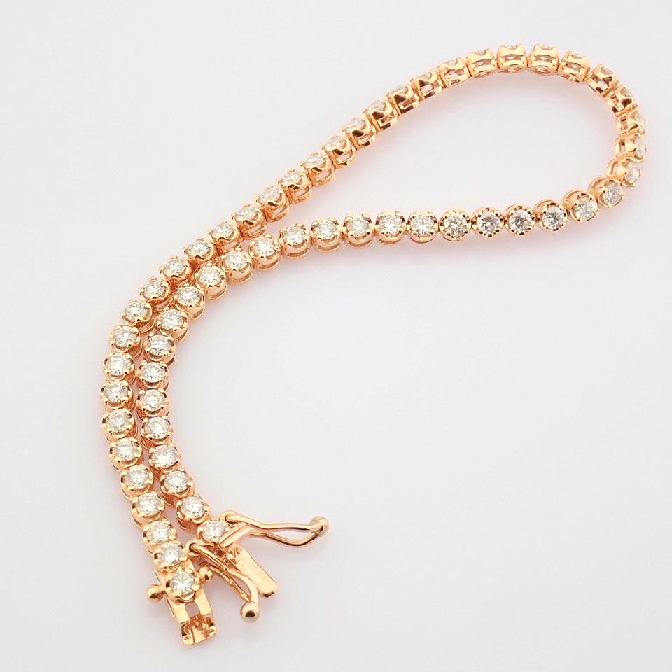 2,10 Ct. Diamond Tennis Bracelet (Crown) - 14K Rose Gold - Image 4 of 14